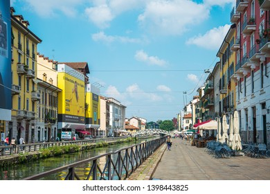 MILAN, ITALY - May 29, 2018: Street view of downtown in Milan, italy.
