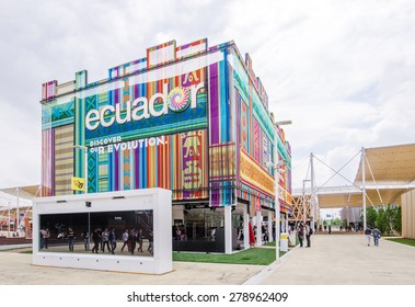 MILAN, ITALY - MAY 4 : Ecuador pavilion at Expo 2015, Universal exposition on the theme of food on MAY 4, 2015 in Milan.