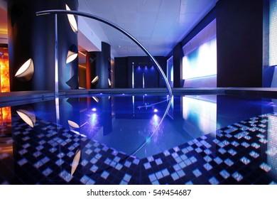Milan, Italy - May 5, 2014: modern hotel spa interior