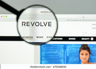 Milan, Italy - May 7, 2017: Revolve website homepage. It's a fashion e-commerce store.