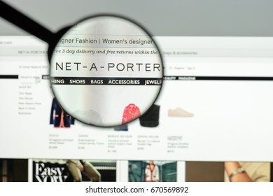 Milan, Italy - May 7, 2017: Net-a-porter multi brand website homepage. It's a fashion e-commerce store.