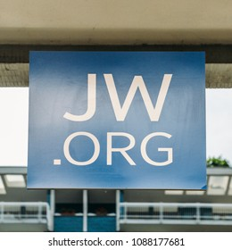 "Milan, Italy, May 8, 2018: Illustrative editorial of the ""JW.ORG"" website. JW stands for Jehova's Witness."