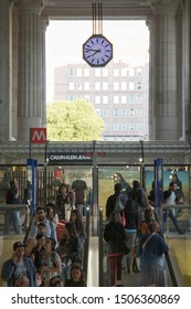 MILAN ITALY: Milano Centrale railway station on April 30, 2018