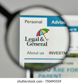 Milan, Italy - November 1, 2017: Legal & General Group logo on the website homepage.