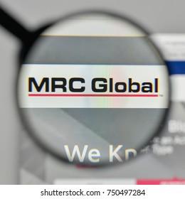 Milan, Italy - November 1, 2017: MRC Global logo on the website homepage.