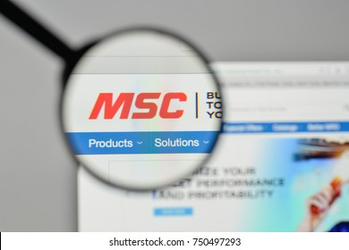 Milan, Italy - November 1, 2017: MSC Industrial Direct logo on the website homepage.