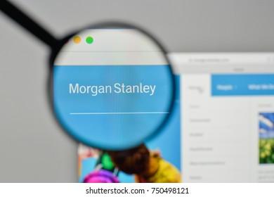 Milan, Italy - November 1, 2017: Morgan Stanley logo on the website homepage.