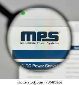 Milan, Italy - November 1, 2017: Monolithic Power Systems logo on the website homepage.