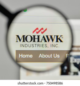 Milan, Italy - November 1, 2017: Mohawk Industries logo on the website homepage.