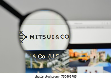 Milan, Italy - November 1, 2017: Mitsui logo on the website homepage.