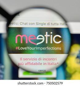 Milan, Italy - November 1, 2017: meetic logo on the website homepage.