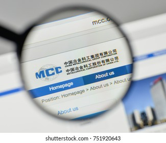 Milan, Italy - November 1, 2017: Metallurgical Corp of China logo on the website homepage.