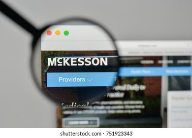 Milan, Italy - November 1, 2017: McKesson logo on the website homepage.