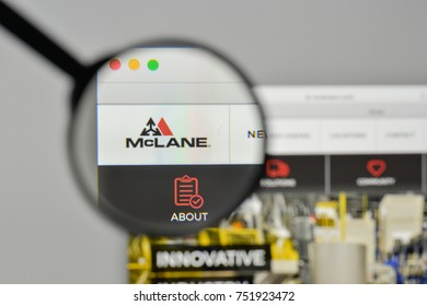 Milan, Italy - November 1, 2017: Mclane Company logo on the website homepage.