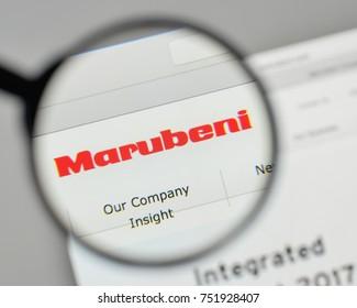 Milan, Italy - November 1, 2017: Marubeni logo on the website homepage.