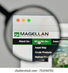 Milan, Italy - November 1, 2017: Magellan Midstream Partners logo on the website homepage.