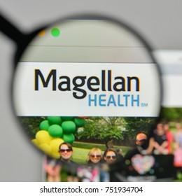 Milan, Italy - November 1, 2017: Magellan Health logo on the website homepage.