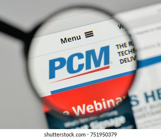 Milan, Italy - November 1, 2017: PCM logo on the website homepage.