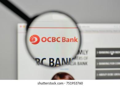 Milan, Italy - November 1, 2017: OCBC Bank logo on the website homepage.