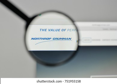 Milan, Italy - November 1, 2017: Northrop Grumman logo on the website homepage.