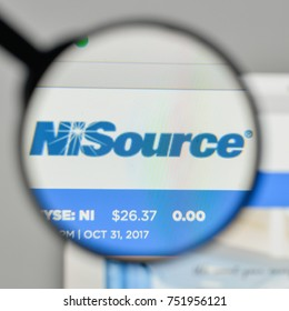 Milan, Italy - November 1, 2017: Ni Source logo on the website homepage.