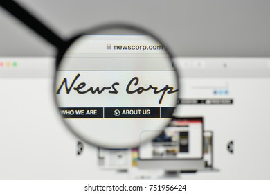 Milan, Italy - November 1, 2017: News Corp. logo on the website homepage.