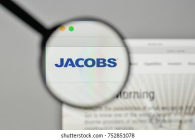 Milan, Italy - November 1, 2017: Jacobs Engineering Group logo on the website homepage.