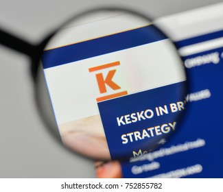 Milan, Italy - November 1, 2017: Kesko OYJ logo on the website homepage.