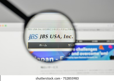 Milan, Italy - November 1, 2017: JBS logo on the website homepage.