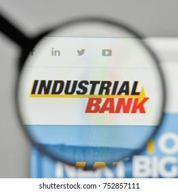 Milan, Italy - November 1, 2017: Industrial Bank logo on the website homepage.