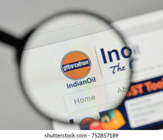 Milan, Italy - November 1, 2017: Indian Oil logo on the website homepage.