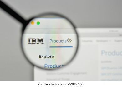 Milan, Italy - November 1, 2017: IBM logo on the website homepage.
