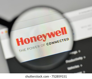 Milan, Italy - November 1, 2017: Honeywell logo on the website homepage.