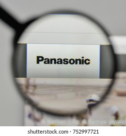 Milan, Italy - November 1, 2017: Panasonic logo on the website homepage.