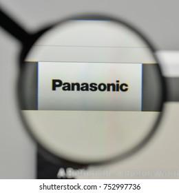 Milan, Italy - November 1, 2017: Panasonic logo on the website homepage.