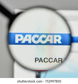 Milan, Italy - November 1, 2017: Paccar logo on the website homepage.