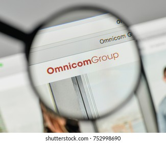 Milan, Italy - November 1, 2017: Omnicom Group logo on the website homepage.