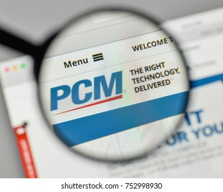 Milan, Italy - November 1, 2017: PCM logo on the website homepage.