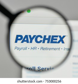 Milan, Italy - November 1, 2017: Paychex logo on the website homepage.