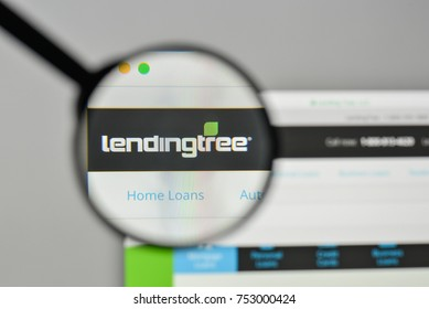 Milan, Italy - November 1, 2017: Lending Tree logo on the website homepage.