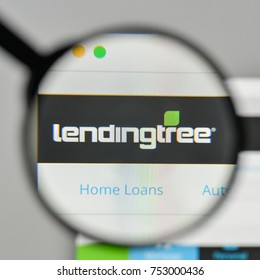 Milan, Italy - November 1, 2017: Lending Tree logo on the website homepage.
