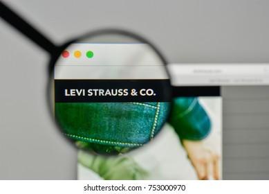 Milan, Italy - November 1, 2017: Levi Strauss logo on the website homepage.