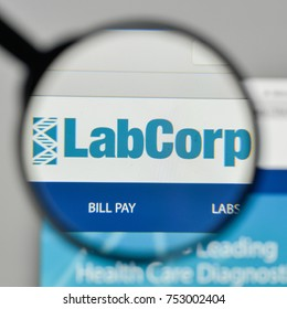 Milan, Italy - November 1, 2017: Laboratory Corp. of America logo on the website homepage.