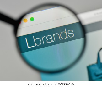 Milan, Italy - November 1, 2017: L Brands logo on the website homepage.