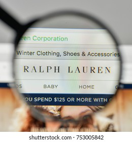 Milan, Italy - November 1, 2017: Ralph Lauren logo on the website homepage.
