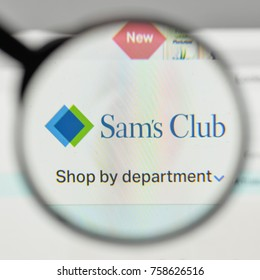 Milan, Italy - November 1, 2017: Sam's Club logo on the website homepage.