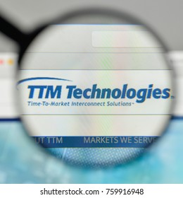 Milan, Italy - November 1, 2017: TTM Technologies logo on the website homepage.