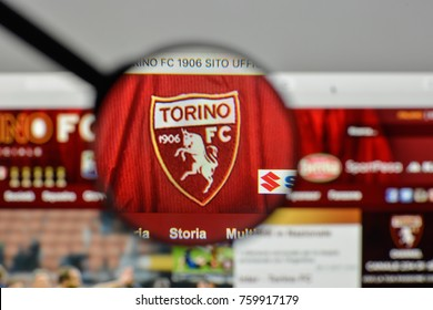Milan, Italy - November 1, 2017: Torino FC logo on the website homepage.