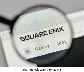 Milan, Italy - November 1, 2017: Square Enix logo on the website homepage.