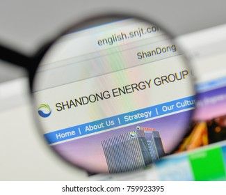 Milan, Italy - November 1, 2017: Shandong Weiqiao Pioneering Group logo on the website homepage.